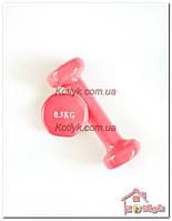 Гантели с виниловым покрытием 2х 0,5 кг Розовые