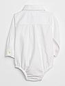 Рубашка боди Oxford Gap для мальчика белый, нарядная рубашка для новорожденного 3-6 мес/58-68 см, фото 2
