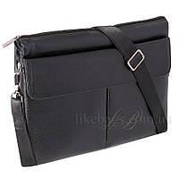 Сумка для документов Fashion через плечо черная 54363, фото 1