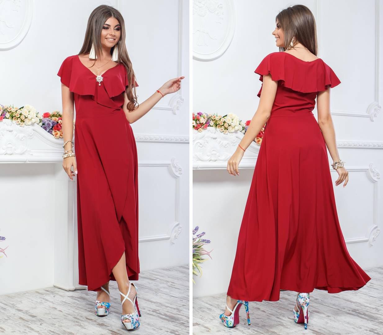 Платье летнее длинное, модель 111
