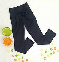 Брюки школьные на девочку, размер 116-140, черные