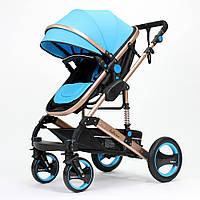 Детские коляски 2 в 1 belecoo 535/Q3 (Blue). Все сезонная коляска-трансформер Belecoo. Прогулочная коляска.