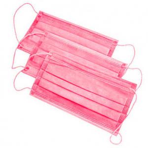 Маска защитная для лица, розовая - 1 шт.
