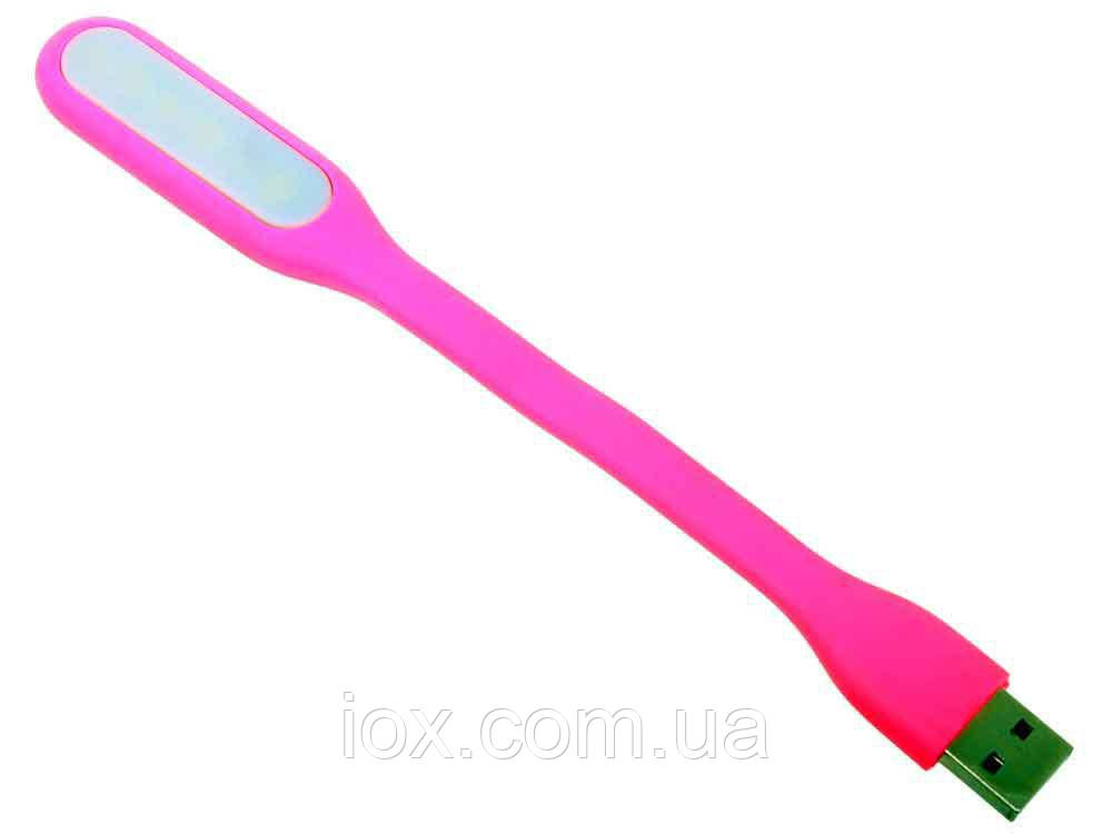 Гнучка портативна USB-світлодіодна LED лампа Рожева
