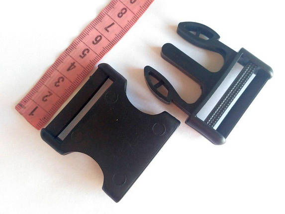 Пряжка фастекс, пластик черный 40 мм, фото 2