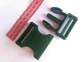 Пряжка фастекс, пластик оливковый 40 мм