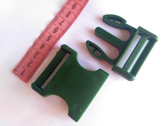Пряжка фастекс, пластик оливковый 40 мм, фото 2