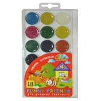 Акварельні фарби  18 кольорів без пензлика