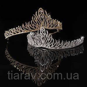 Диадема свадебная, ОЛИВЕР, тиара вечерняя, украшения для волос