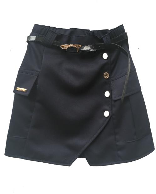 Школьная юбка с накладными карманами