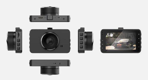 Видеорегистратор автомобильный IPS30 угол обзора 170 градусов 1296p SUPERHD 2 камеры
