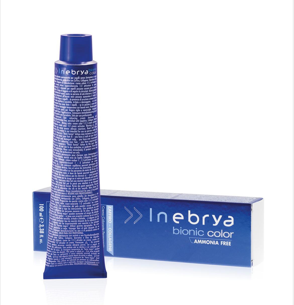 10/2 платиновый блонд жемчужный Inebrya Bionic Color безаммиачная крем-краска для волос 100 мл