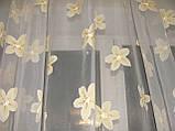 Жесткий ламбрекен Роспись Салатовый 3м, фото 4