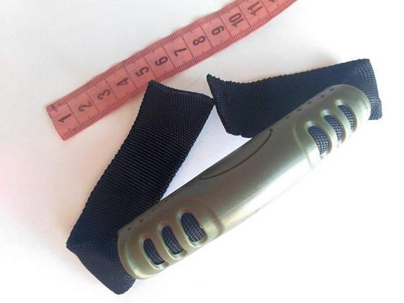 Ручка сумочная (трубка с лентой) оливковая, фото 2