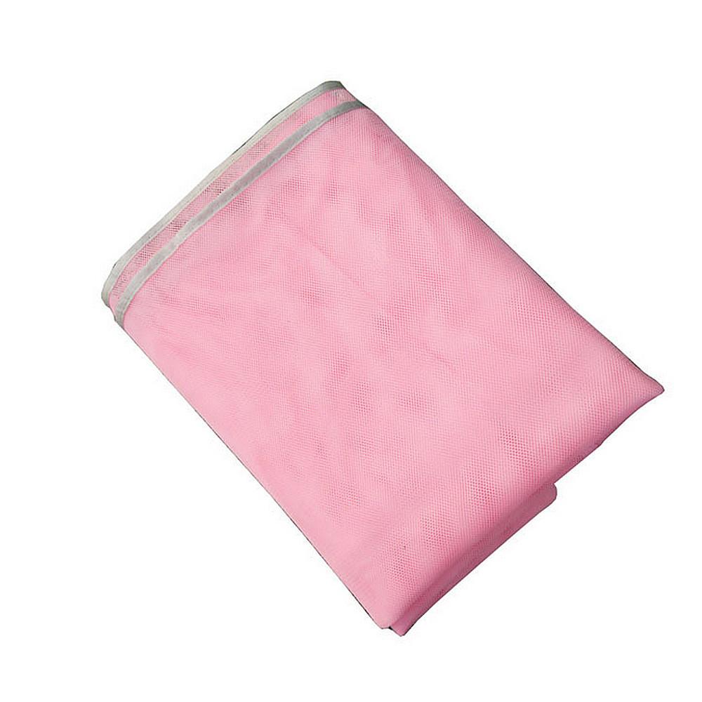 Пляжное покрывало анти песок 200*200 см розовый