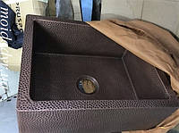 Медная кухонная мойка врезная 600/600/мм
