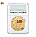 Позолоченная монета Роналдо в капсуле