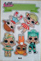 Фетр с  рисунком принтом кукла Лол 043