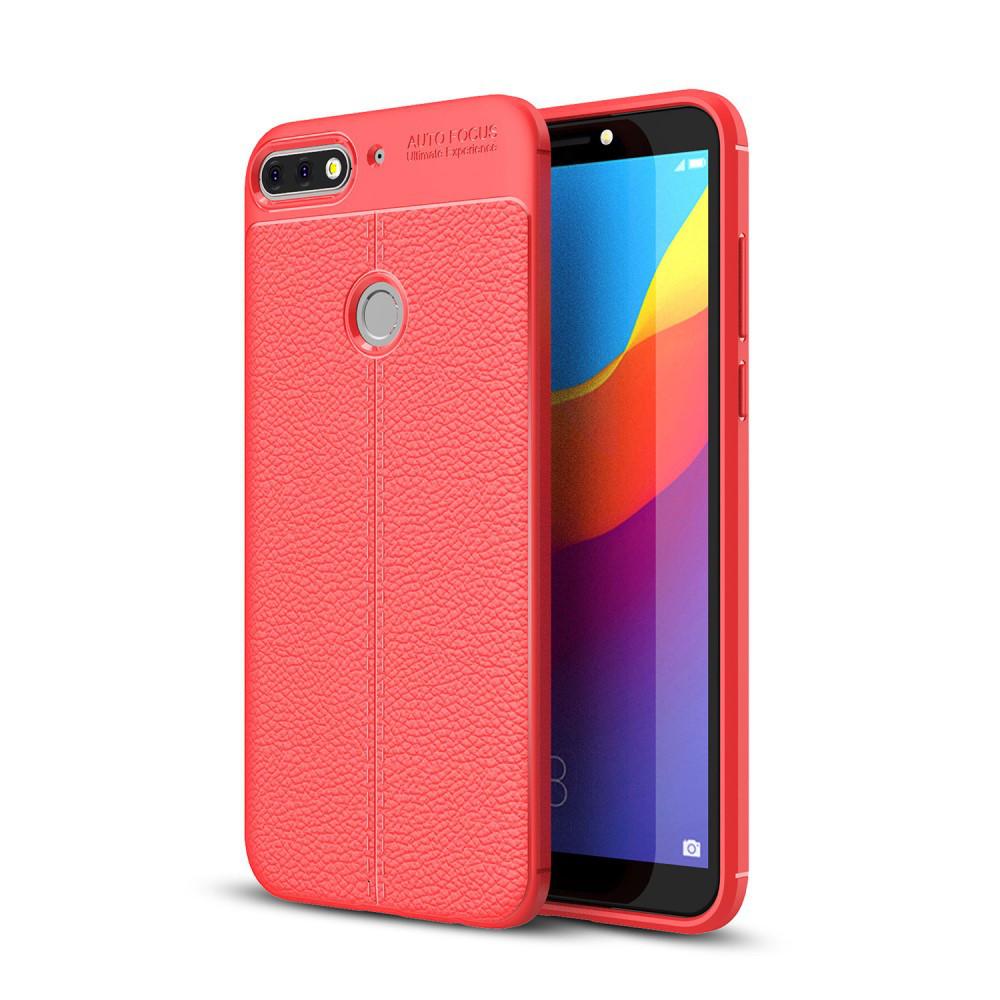 Чохол накладка для Huawei Honor 7C PRO LND-L29 силіконовий, Фактура шкіри, червоний