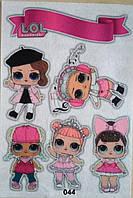 Фетр с  рисунком принтом кукла Лол 044
