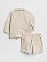 Костюм Gap для мальчика лён на годик пиджак + шорты 12-18 мес/80 см, фото 2