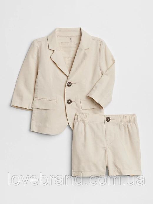 Костюм Gap для мальчика лён на годик пиджак + шорты 12-18 мес/80 см