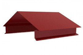Планка карнизная для забора оцинкованная с полимерным покрытием
