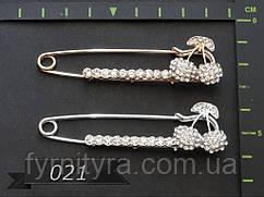 Украшение булавка декоративная 021, зол.,серебро 75мм