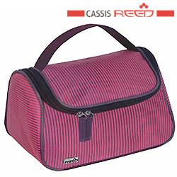 Reed - Косметичка 8048 Classis вино полоса,чемодан ручка средняя 22.5x14x14.5 см