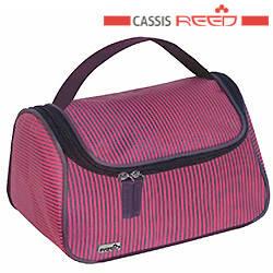 Reed - Косметичка 8048 Classis вино полоса,чемодан ручка средняя 22.5x14x14.5 см, фото 2