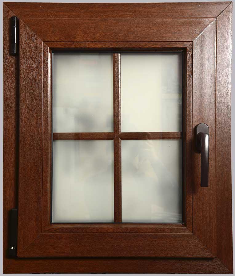 Окно металлопластиковое ламинированное цветное из цветного профиля Рехау Rehau стандартного цвета