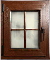 Окно металлопластиковое ламинированное цветное из цветного профиля Рехау Rehau стандартного цвета, фото 1