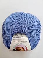Пряжа для вязания Беби вулл ALIZE голубой 40