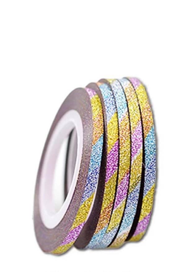 Цукрова нитка для нігтів в рулоні STZ різнобарвний 3 мм