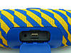 JBL Charge 3 Zap mini A+ в стилі xtreme, портативна колонка з Bluetooth FM MP3, жовте з синім, фото 4
