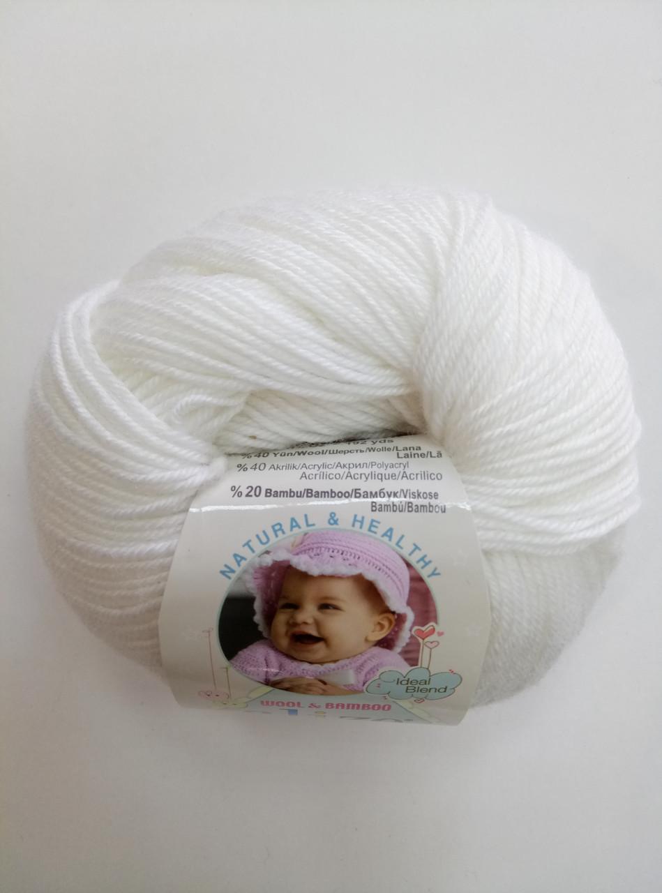 Пряжа для вязания Беби вулл ALIZE белый 55