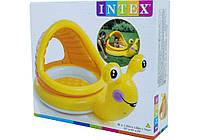 Надувной бассейн с навесом Intex Ленивая Улитка