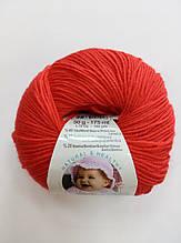 Пряжа для вязания Беби вулл ALIZE красный 56