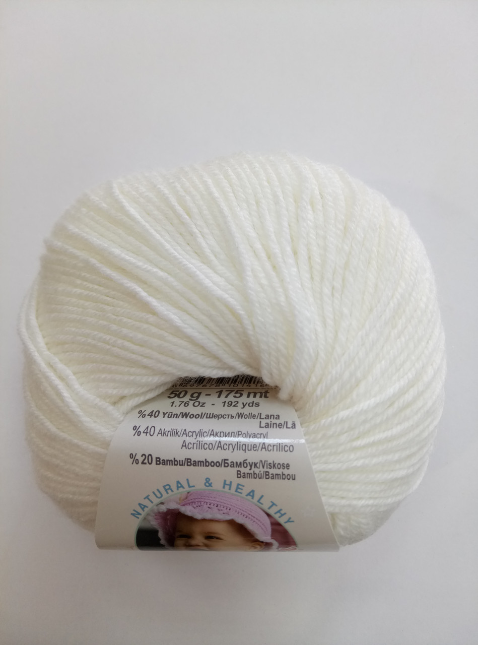 Пряжа для вязания Беби вулл ALIZE молоко 62