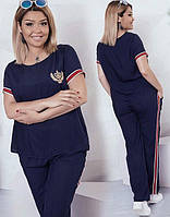 Спортивный костюм женский батал по 58 размер  фел7087, фото 1