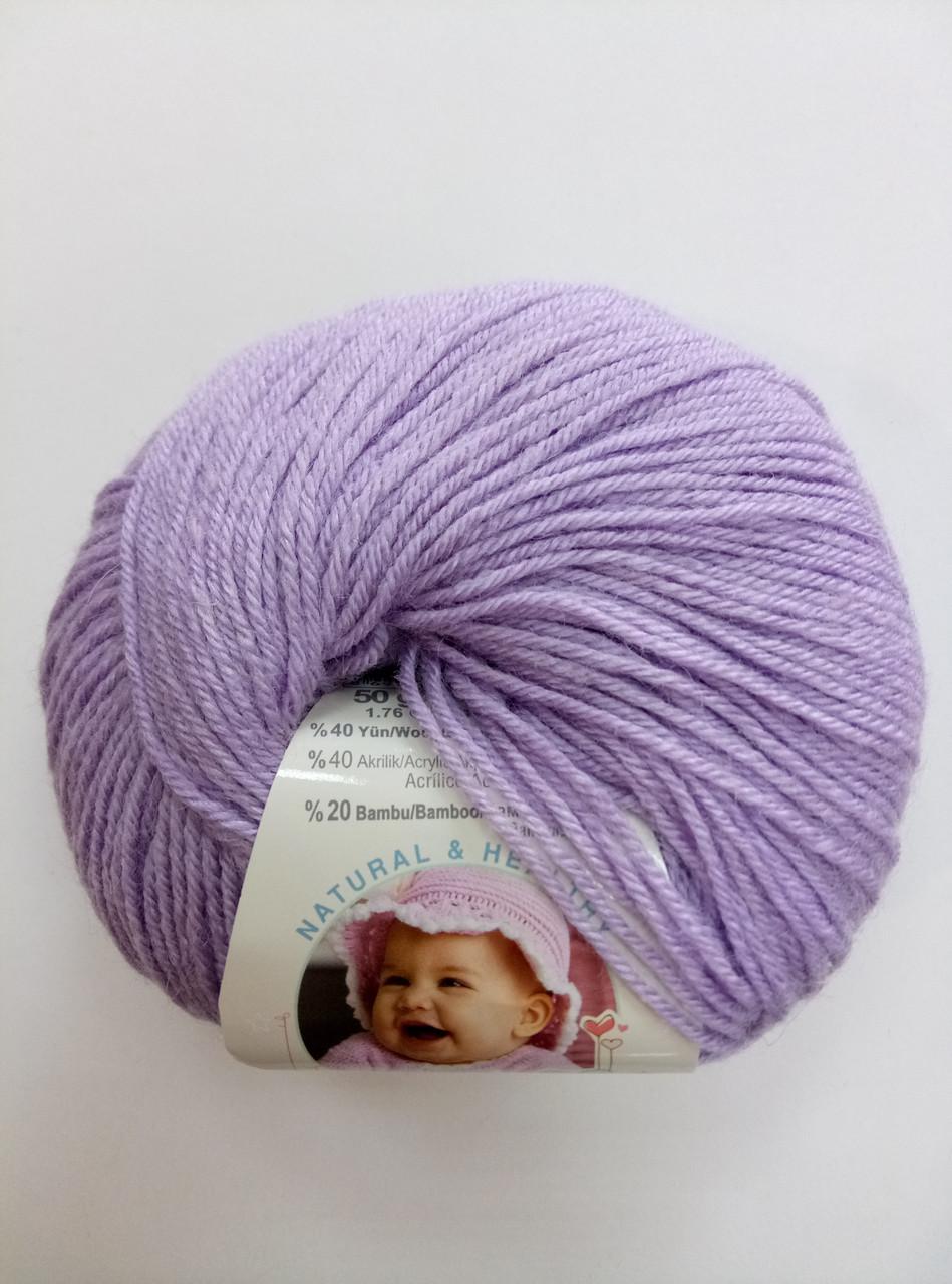 Пряжа для вязания Беби вулл ALIZE лиловый 146