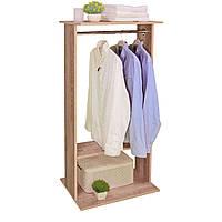"""Открытый шкаф для одежды деревянный """"Галлант 1"""" дуб"""