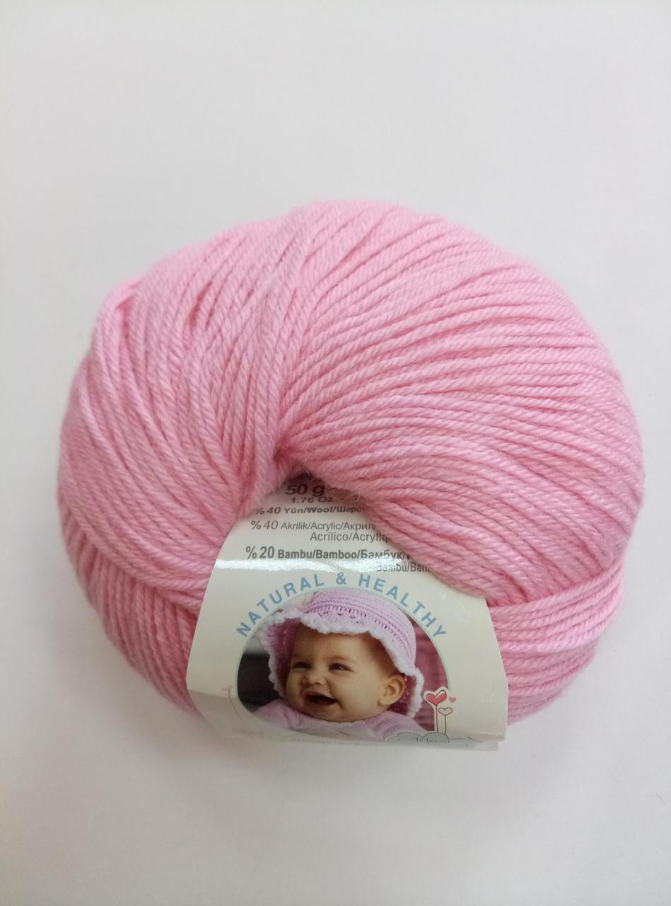 Пряжа для вязания Беби вулл ALIZE розовый 194