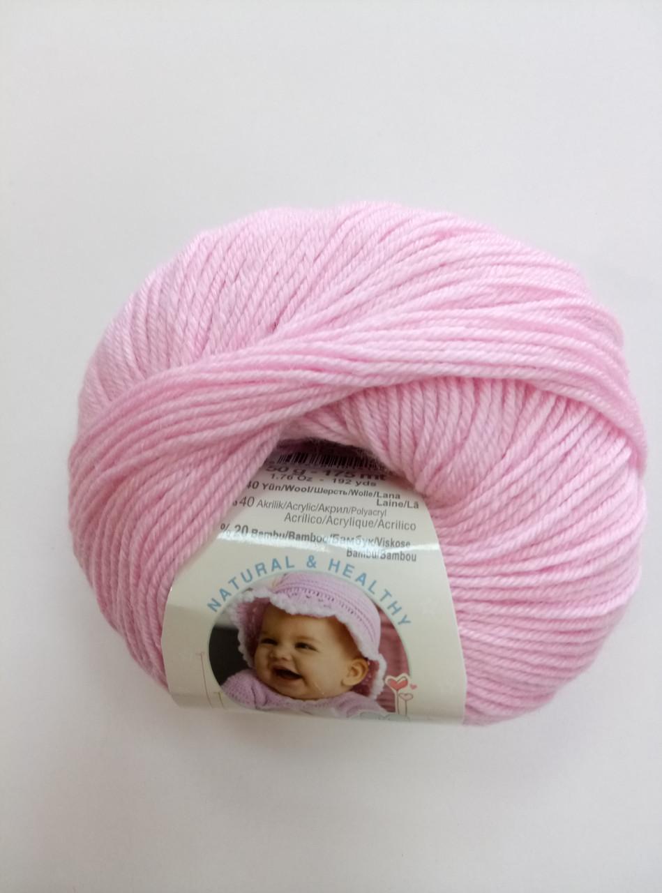 Пряжа для вязания Беби вулл ALIZE светло розовый 185