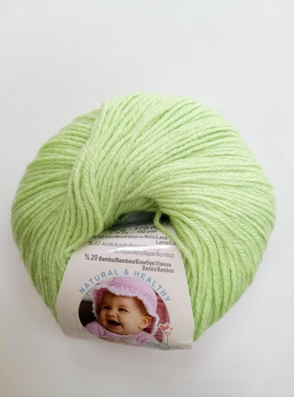 Пряжа для вязания Беби вулл ALIZE светло-зеленый 41