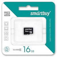Карта флеш-памяти 16 Gb Class 10 Smartbuy micro SDHC