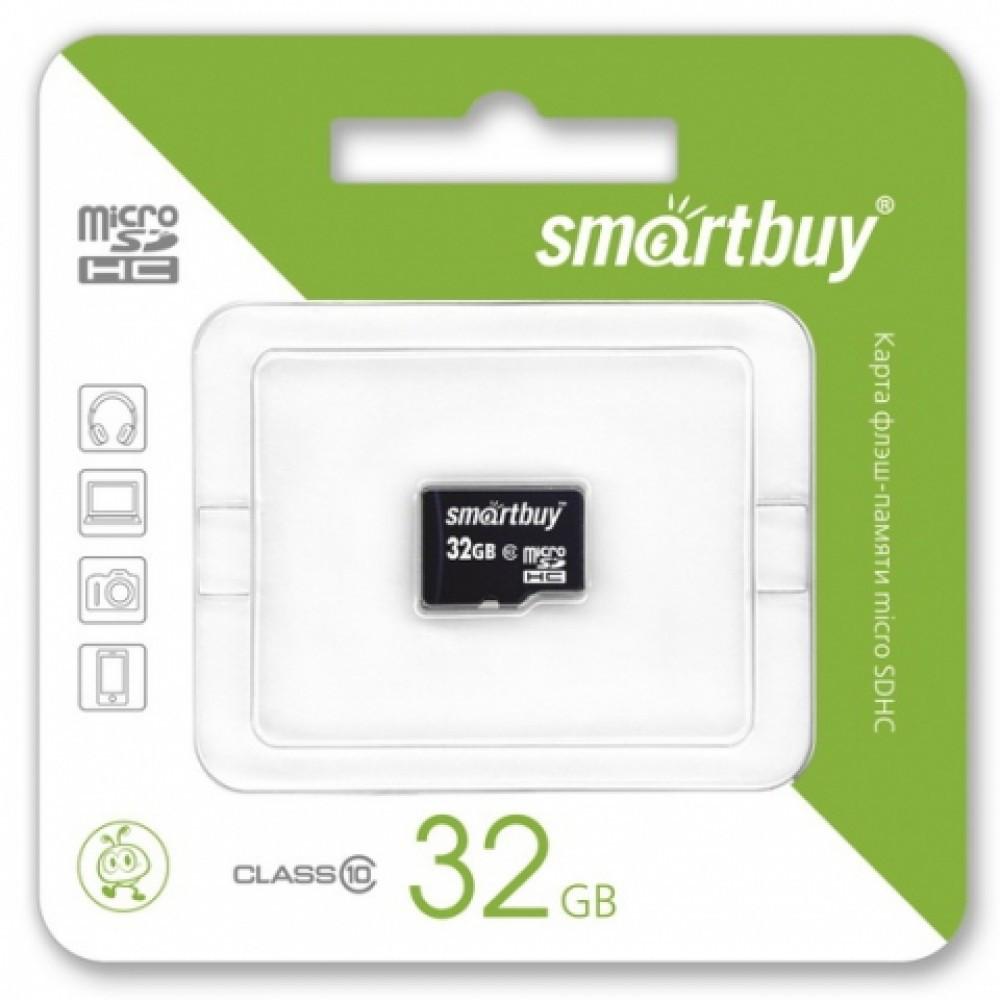 Карта флеш-памяти Smartbuy micro SDHC 32 Gb Class 10