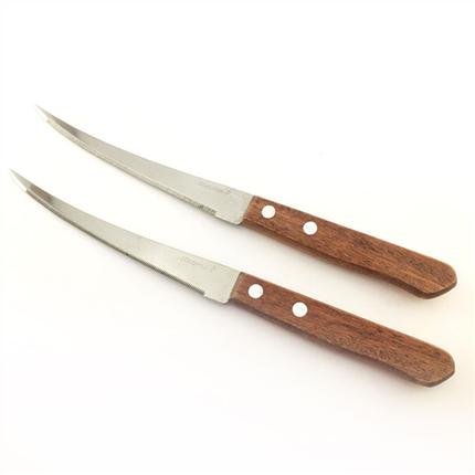Ножи 12пр. В блистере  с нержавеющей стали з дерев'яними ручками , фото 2