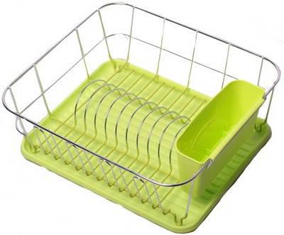 Сушарка для посуды  37*33*13,5см.хромированая сталь. С поддоном , фото 2