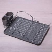 Сушарка для посуды  52*32*13 смхромированая сталь. С поддоном , фото 2